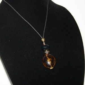 """Beautiful glass necklace with 36"""" cord"""